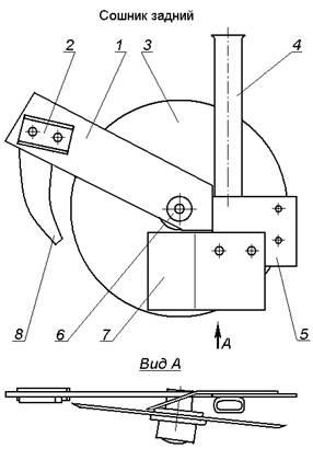 Схема однодисково-анкерного